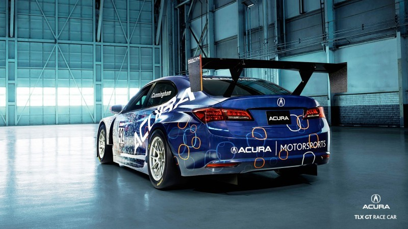 2015 Acura TLX GT Racecar Boosts Off 2015 TLX Lanuch with 500Hp Twin-Turbo SH-AWD 12
