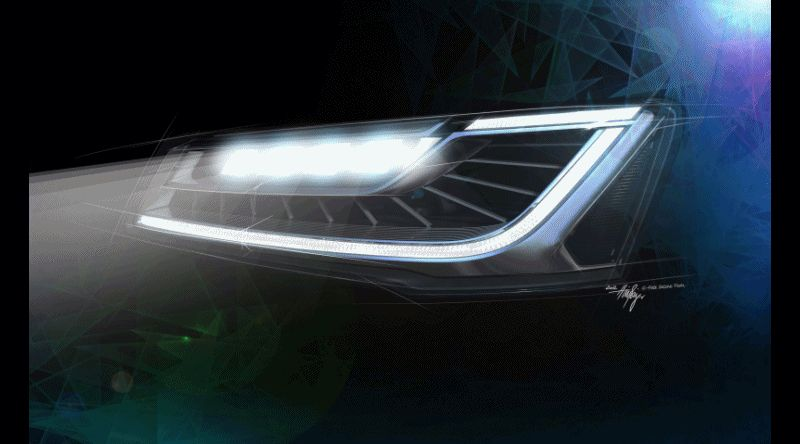 2015 Audi A8 LED headlight Animation GIF