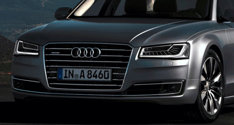 2015 Audi A8 LED headlight Animation GIF2