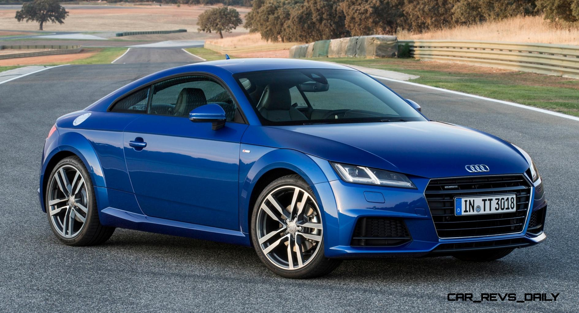 update1 new photos 2015 audi tt and tts bring much more power and much better dynamics. Black Bedroom Furniture Sets. Home Design Ideas