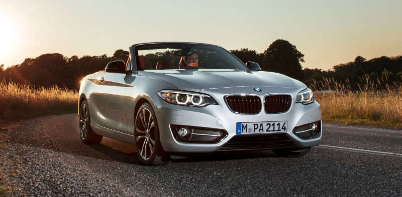 2015 BMW 228i and M235i Convertibles Make Tail-Out, Top-Down World Debut 25