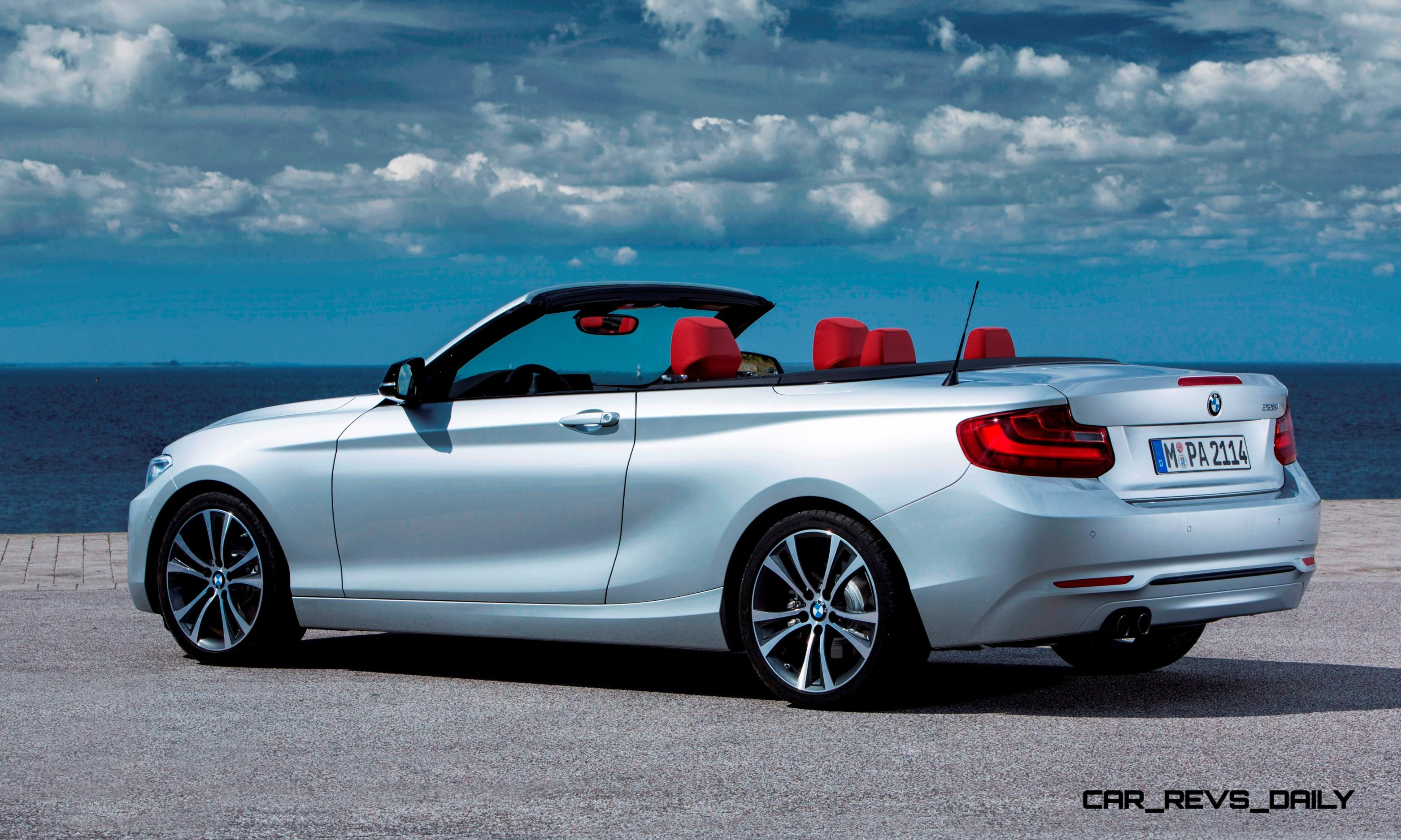 2015 bmw 228i and m235i convertibles make tail out top down world debut. Black Bedroom Furniture Sets. Home Design Ideas