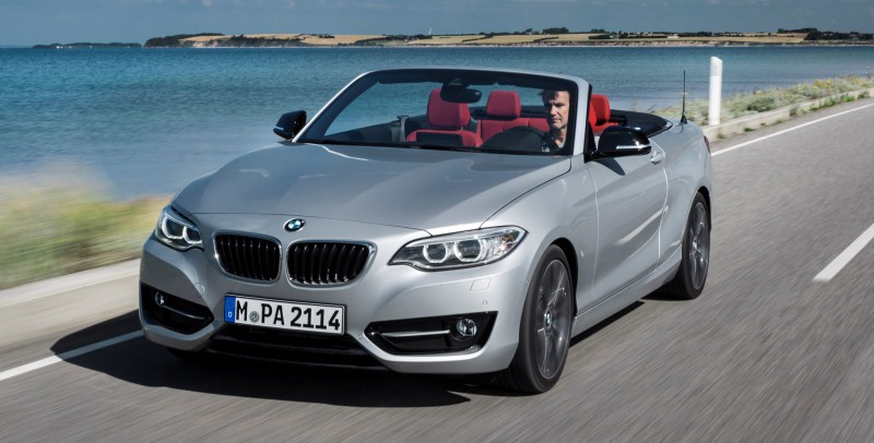 2015 BMW 228i and M235i Convertibles Make Tail-Out, Top-Down World Debut 44
