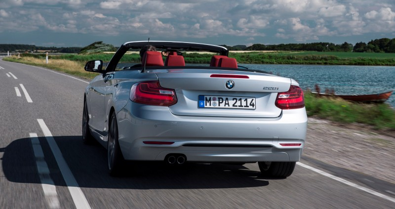 2015 BMW 228i and M235i Convertibles Make Tail-Out, Top-Down World Debut 45