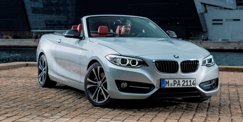 2015 BMW 228i and M235i Convertibles Make Tail-Out, Top-Down World Debut 50
