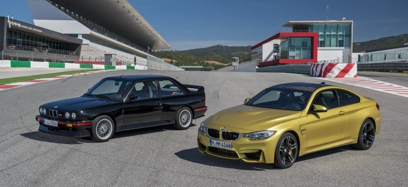 2015 BMW M3 and M4 Meet The Legacy in 52 New Photos With E30 Sport Evolution, E36 M3 Sedan, E46 and E90 16