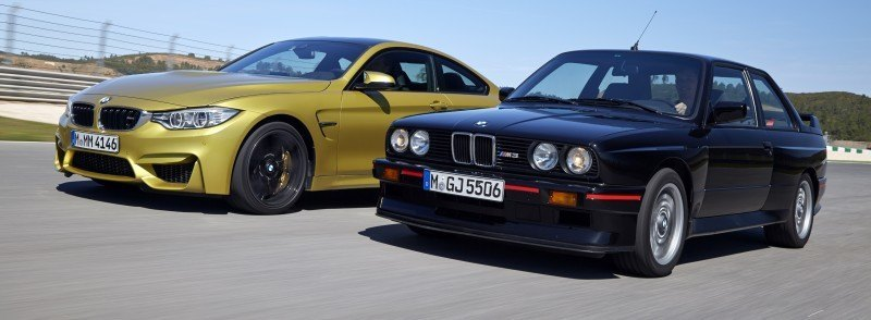 2015 BMW M3 and M4 Meet The Legacy in 52 New Photos With E30 Sport Evolution, E36 M3 Sedan, E46 and E90 24