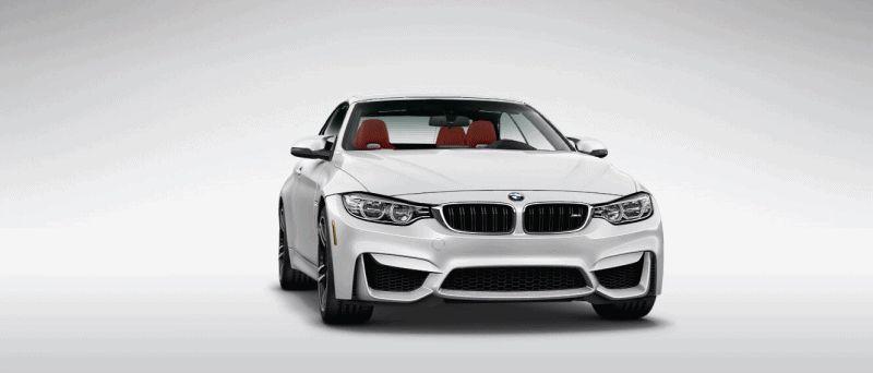 2015 BMW M4 MINERAL WHITE  metallic 2 gif