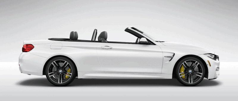 2015 BMW M4 MINERAL WHITE  metallic gif