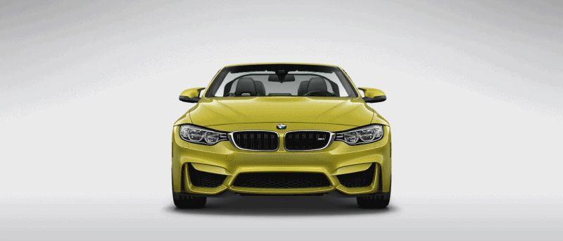2015 BMW M4 austin yellow metallic gif