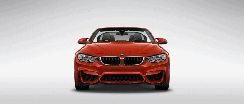 2015 BMW M4 sakhir orange metallic gif