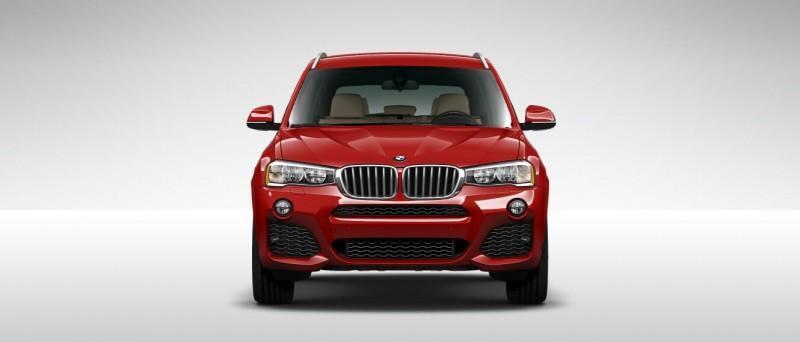 2015 BMW X3 sDrive28i M SPORT Red 3