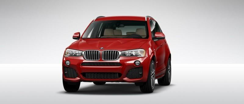 2015 BMW X3 sDrive28i M SPORT Red 4