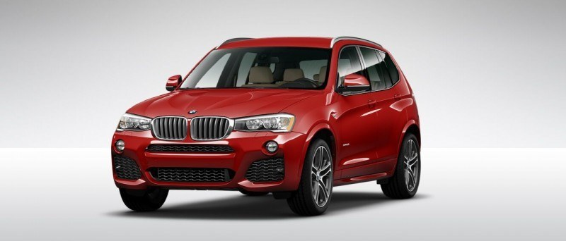 2015 BMW X3 sDrive28i M SPORT Red 5