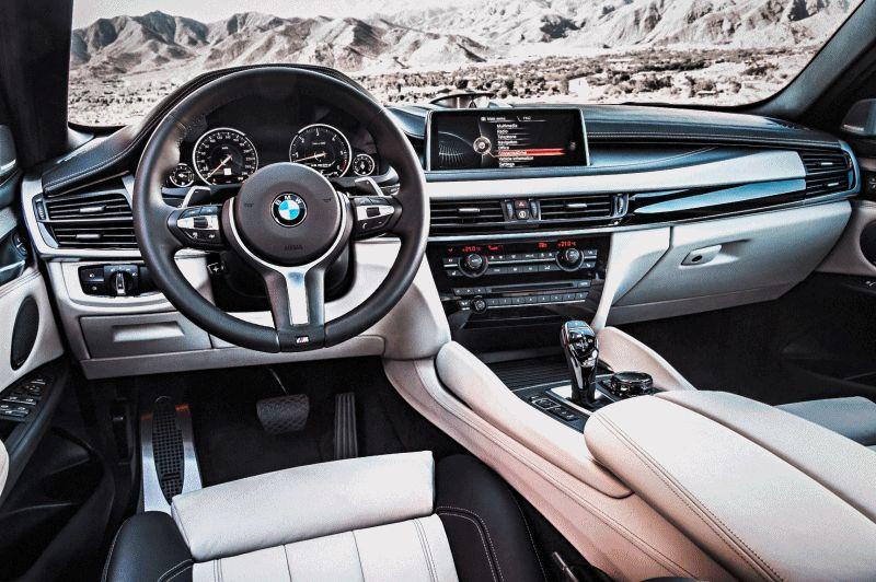 2015 BMW X6 xDrive50i INTERIOR GIF1