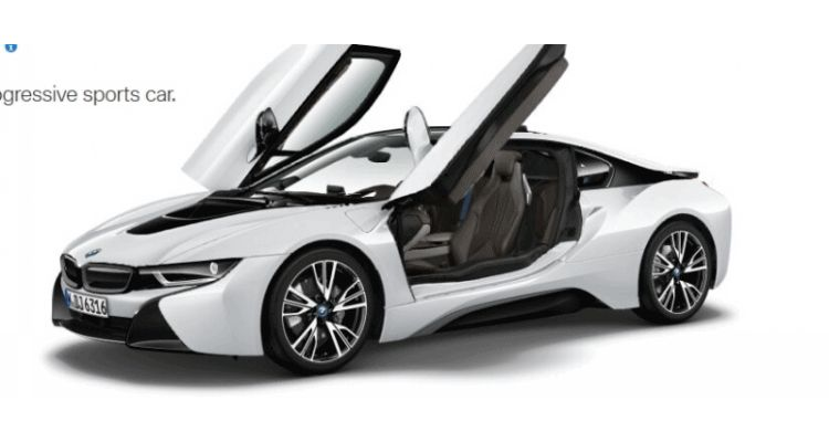 2015 BMW i8 in White GIF Doors1111111