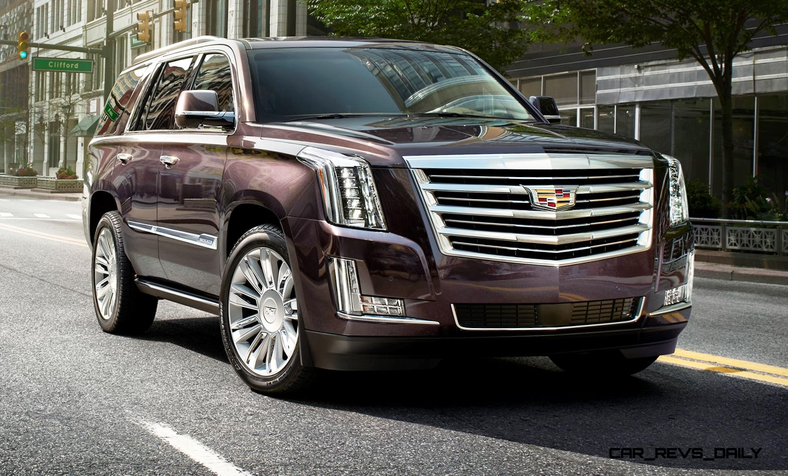 2015 cadillac escalade platinum brings new crest emblem 8. Black Bedroom Furniture Sets. Home Design Ideas