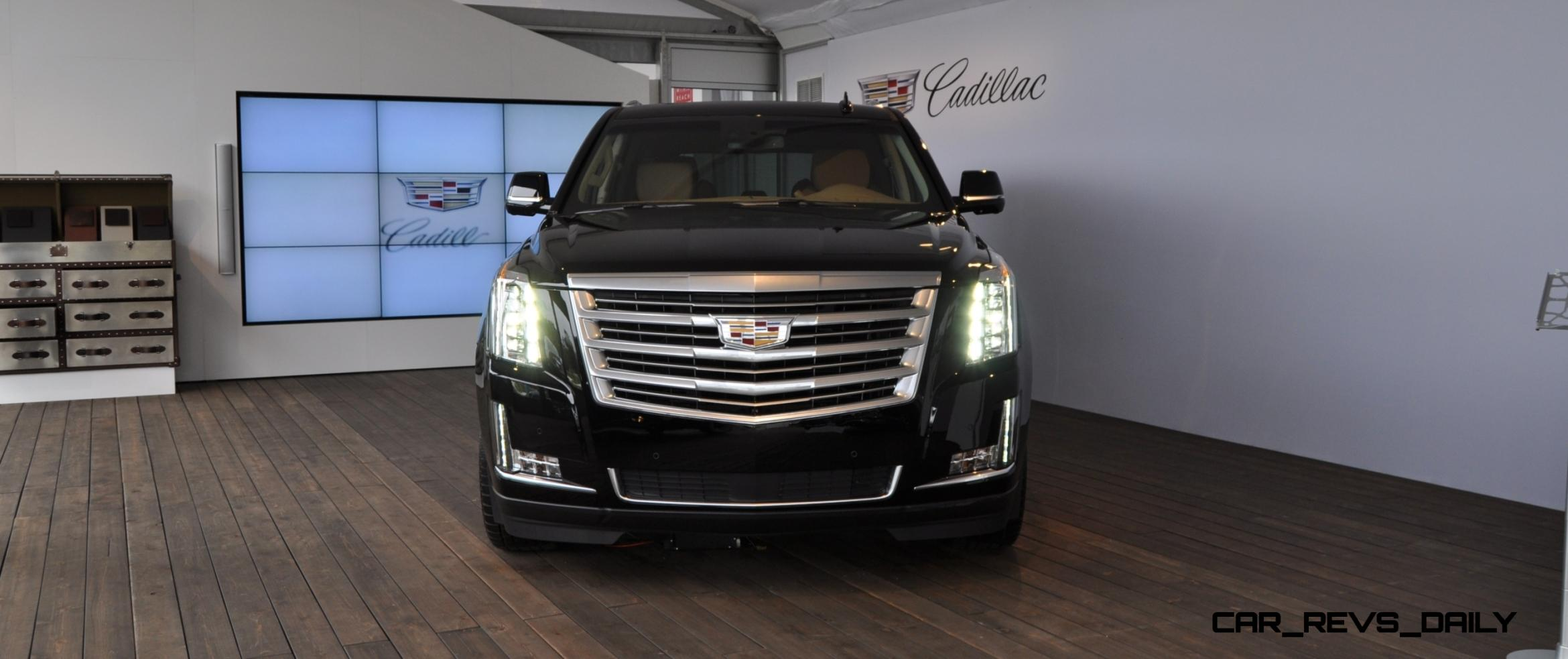 2015 cadillac escalade platinum and standard model unveiled for pebble beach 9. Black Bedroom Furniture Sets. Home Design Ideas