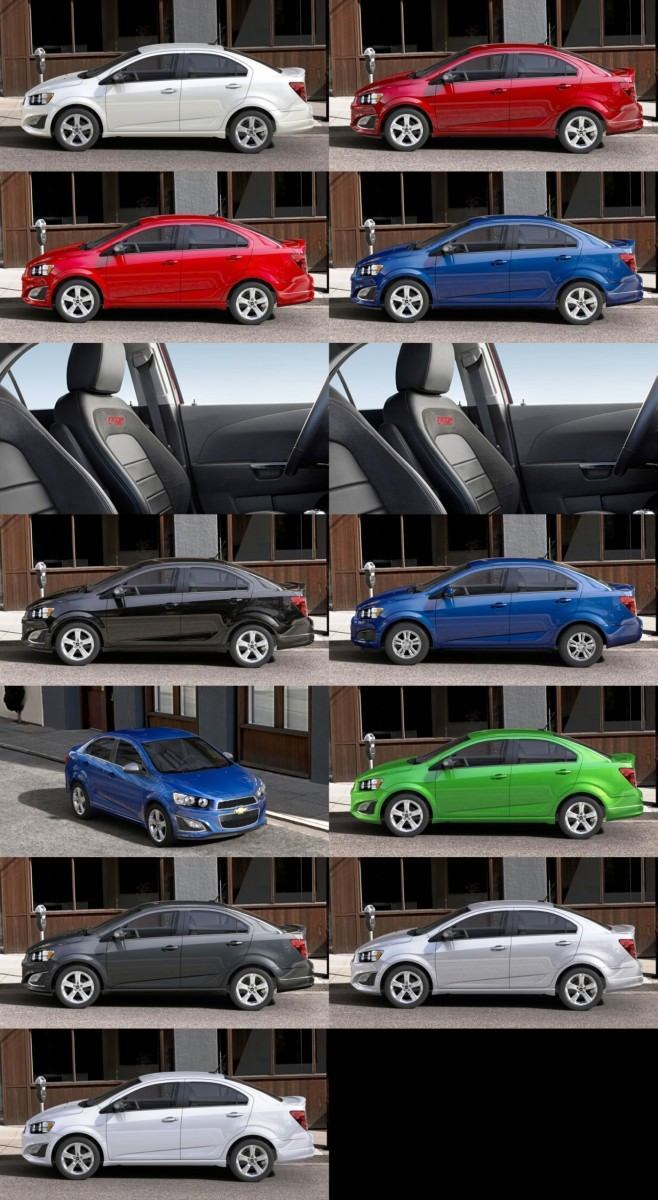 2015 Chevy Sonic RS Sedan COLORS and Buyers Guide Info 23-tile