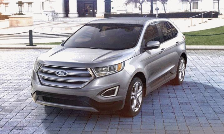 Ford Edge Ingot Silver Turntable Animation