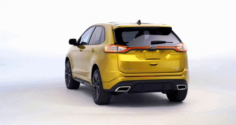 2015 FORD EDGE Turntable animation GIF1