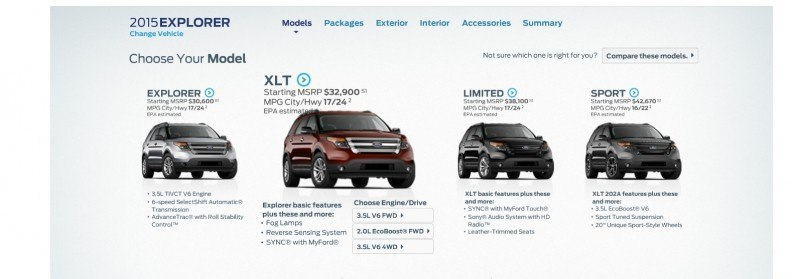 2015 Ford Explorer Brings EcoBoost 2.0-liter, Active Safety Tech and XLT Appearance Pack Updates 36