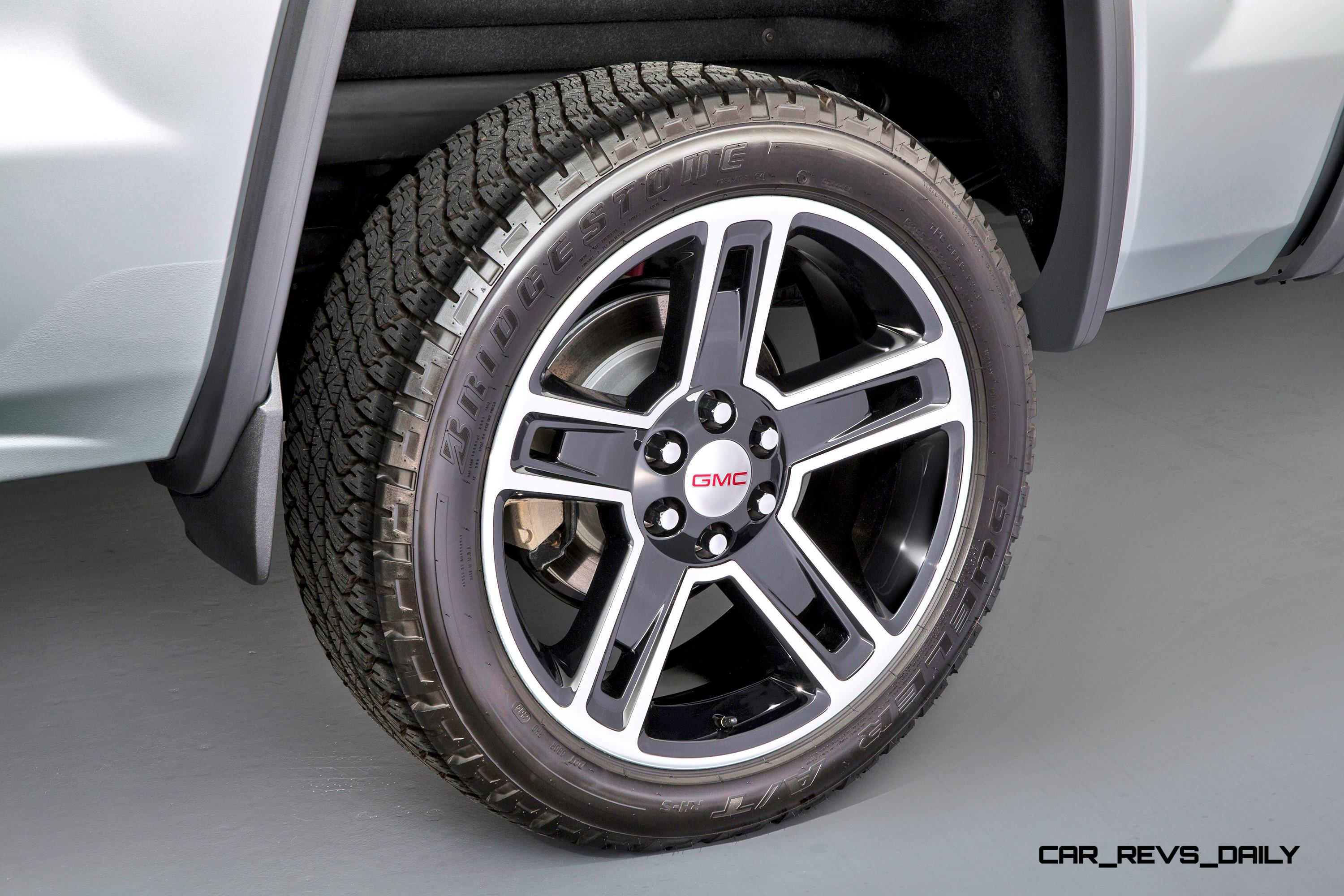 2015 Gmc Sierra Elevation And Carbon Editions Bring Top Flight Leds And Stylish Black Wheels Car Revs Daily Com