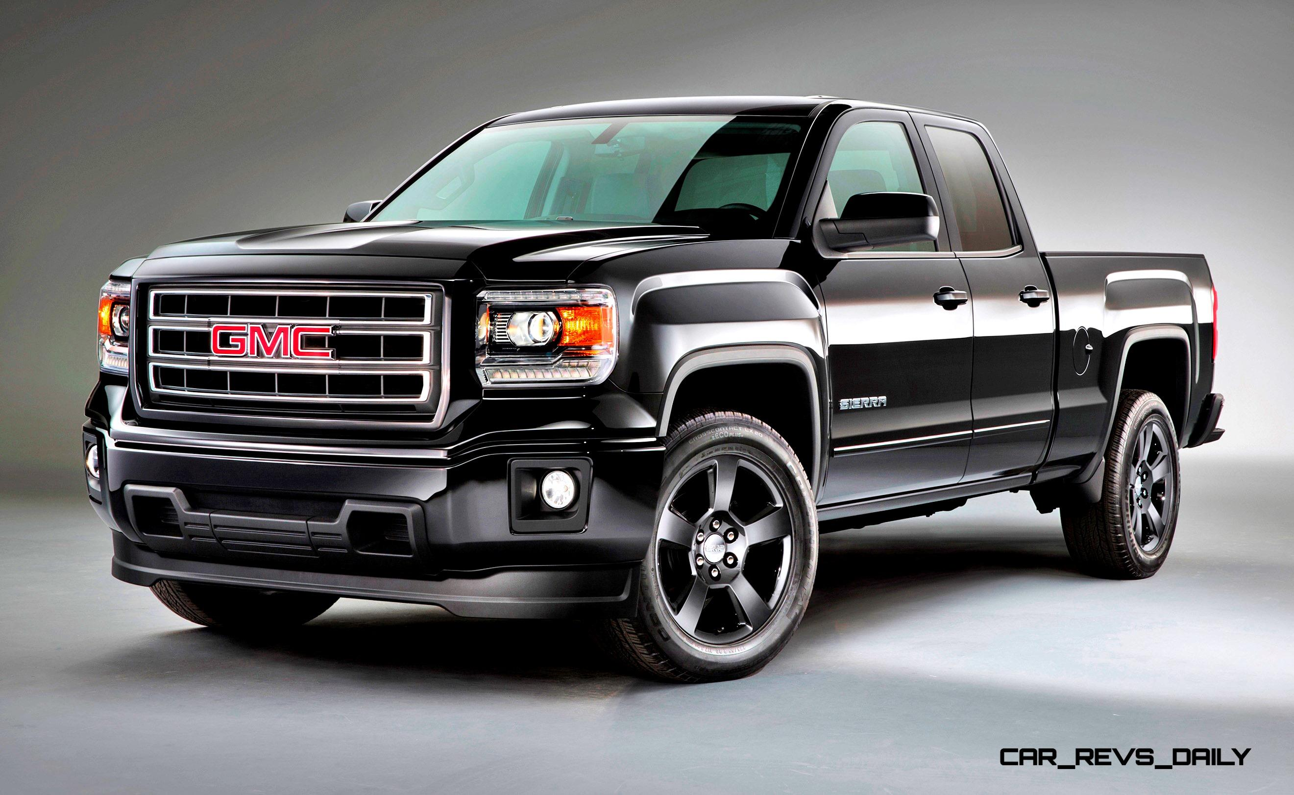 2015 gmc sierra elevation and carbon editions bring top flight leds and stylish black wheels. Black Bedroom Furniture Sets. Home Design Ideas