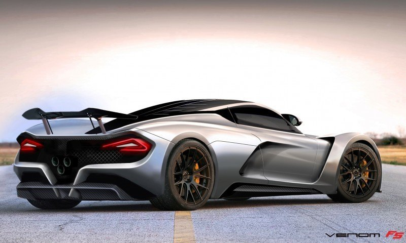 2015 Hennessey Venom F5 Seeks Real 290MPH VMax Via New V8TT, Active Aero and Low-Drag Design 10