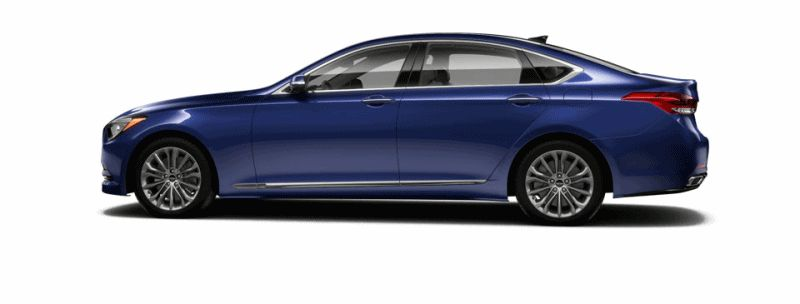2015 Hyundai Genesis - Ibiza Blue GIF