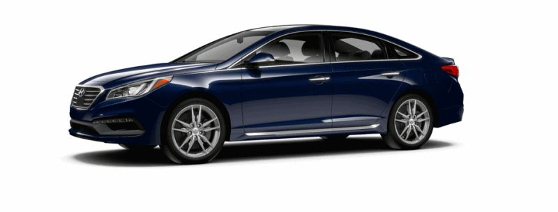 2015 Hyundai Sonata 2.0T Sport - LAKESIDE BLUE Animated Turntable GIF
