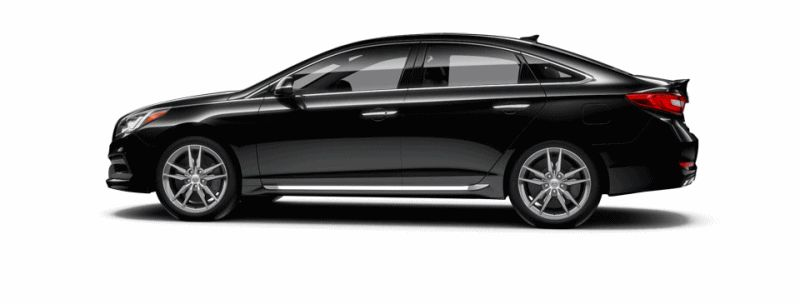 2015 Hyundai Sonata 2.0T Sport - PHANTOM BLACK Animated Turntable GIF