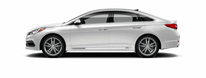 2015 Hyundai Sonata 2.0T Sport - QUARTZ WHITE Animated Turntable GIF