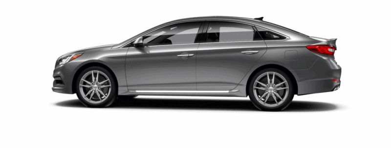 2015 Hyundai Sonata 2.0T Sport - SHALE GREY Animated Turntable GIF