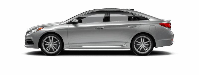 2015 Hyundai Sonata 2.0T Sport - SYMPHONY SILVER Animated Turntable GIF