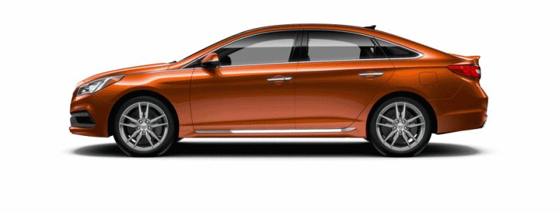 2015 Hyundai Sonata 2.0T Sport - URBAN SUNSET Animated Turntable GIF