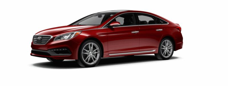 2015 Hyundai Sonata 2.0T Sport - VENITIAN RED Animated Turntable GIF