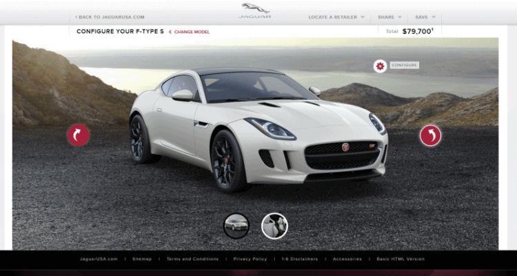 2015 Jaguar F-TYPE S Coupe Builder GIF 2