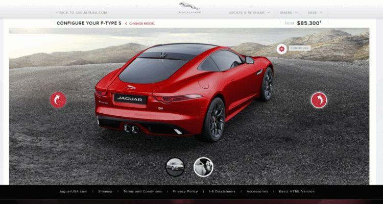 2015 Jaguar F-TYPE S Coupe Builder GIF 222