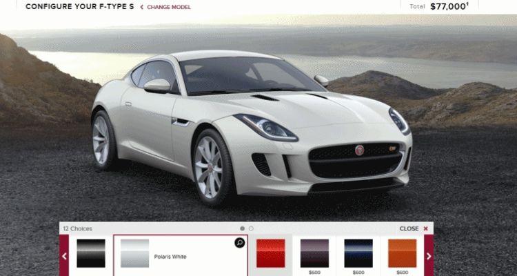 2015 Jaguar F-TYPE S Coupe Builder GIF colors