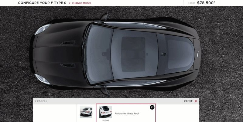 2015 Jaguar F-TYPE S Coupe Builder GIF roof