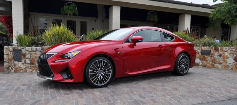 2015 Lexus RC-F in Red at Pebble Beach 10