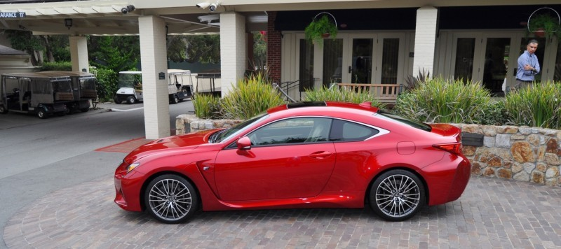 2015 Lexus RC-F in Red at Pebble Beach 100