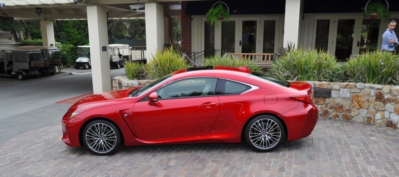 2015 Lexus RC-F in Red at Pebble Beach 101