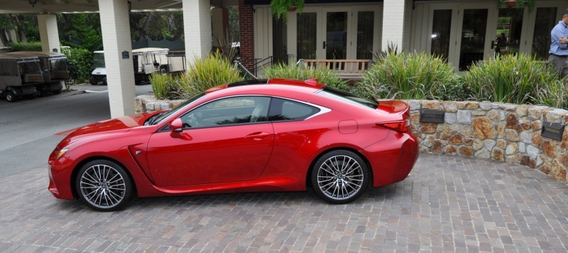 2015 Lexus RC-F in Red at Pebble Beach 102
