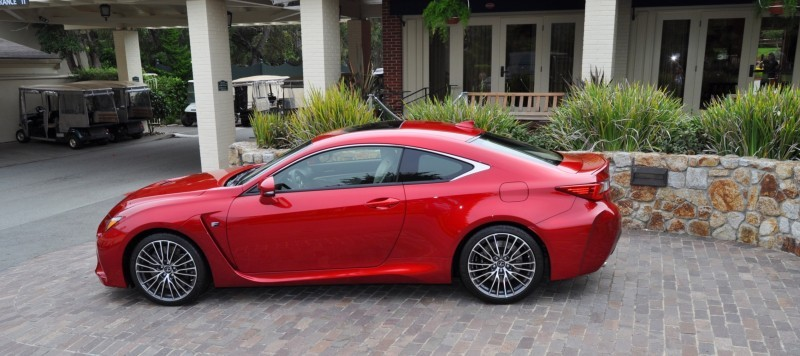 2015 Lexus RC-F in Red at Pebble Beach 103