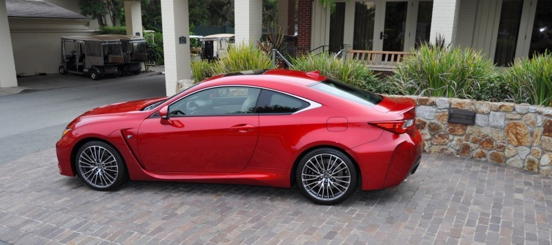 2015 Lexus RC-F in Red at Pebble Beach 105