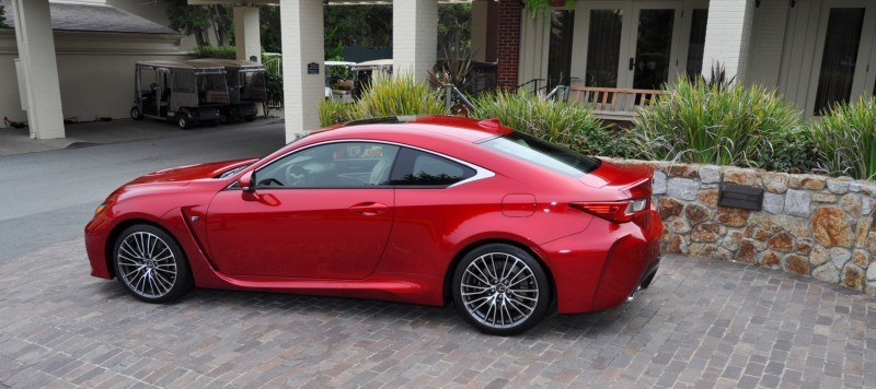 2015 Lexus RC-F in Red at Pebble Beach 106