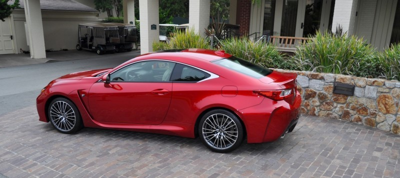 2015 Lexus RC-F in Red at Pebble Beach 107