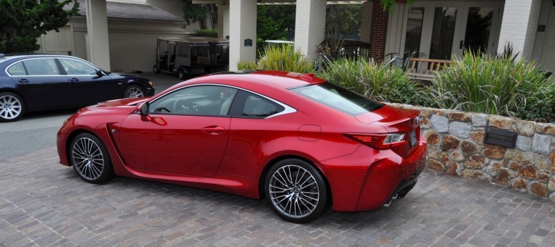 2015 Lexus RC-F in Red at Pebble Beach 108